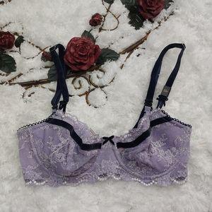 Victoria's Secret Floral Lace Push Up Bra Size 32D
